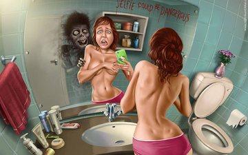 scary, selfie