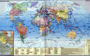 мир, карта, политика