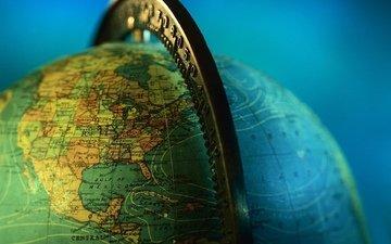 земля, фон, синий, планета, карта, разметка, глобус, материки, координаты, широта, долгота