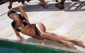 девушка, брюнетка, модель, грудь, ножки, фигура, секси, sasha cane
