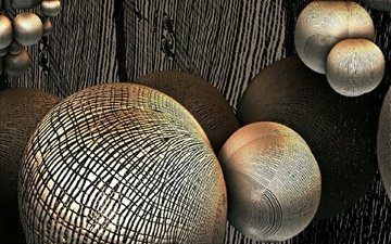balls, abstraction, 3d