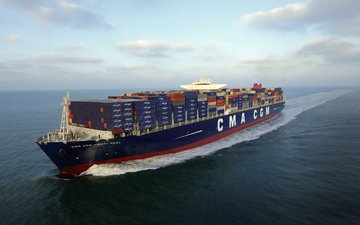 sea, the ship, on the go, tank, a container ship, cma cgm, corte real