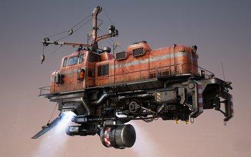 fiction, train, mechanisms, flies