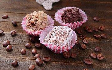 зерна, кофе, конфеты, сладости, шоколад, конфета, в шоколаде