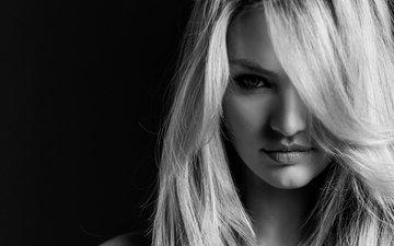 блондинка, модель, чёрно-белый, кэндис свейнпол