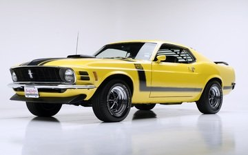 1970, ford mustang boss 302, yellow ford mustang