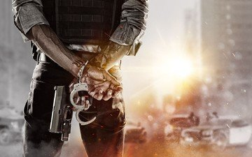 weapons, machine, explosions, handcuffs, battlefield hardline, video game, visceral games, electronic arts