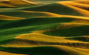 земля, холмы, природа, тени