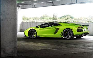 green, car, lamborghini, aventador, lp 700-4
