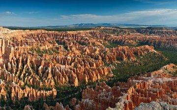 скалы, природа, парк, bryce point, брайс каньон национальный парк