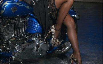 девушка, ноги, чулки, мотоцикл, туфли, gевочка, yaryna, модел