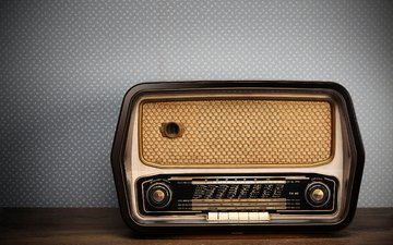 ретро, радио, в стиле, old radio