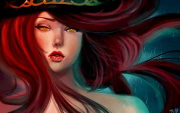 art, girl, hunter, the game, pirate, red hair, miss fortune, league of legends