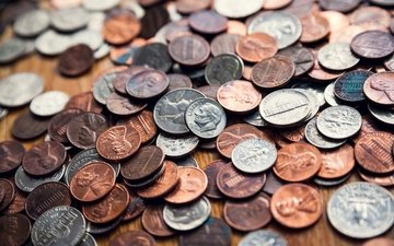metal, coins, value