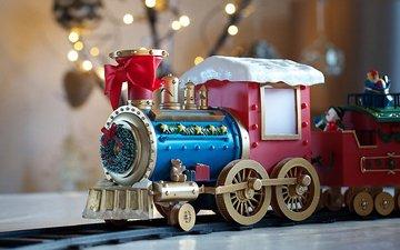 игрушка, игра, игрушки, праздник, паровозик, бант