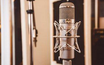 микрофон, музыка, запись