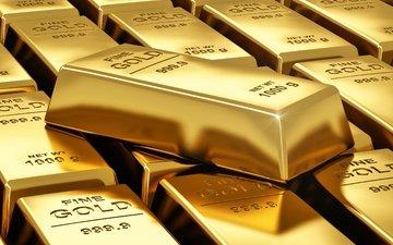 металл, золото, слитки
