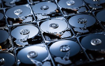 компьютер, цифровой запоминающий, жесткие диски