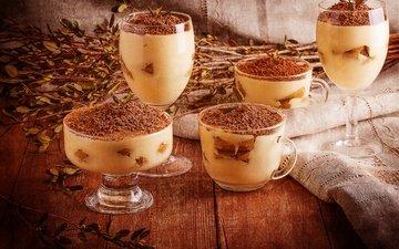 крем для торта, сладкое, печенье, десерт, в шоколаде, какао, итальянка, тирамису, аппетитная, сладенько, cтекло