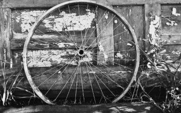 колесо, белая, метал, велосипед, дерева, блака, bicycle wheel