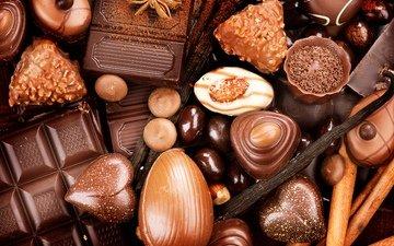 орехи, конфеты, сладости, шоколад, сладкое, конфета, в шоколаде
