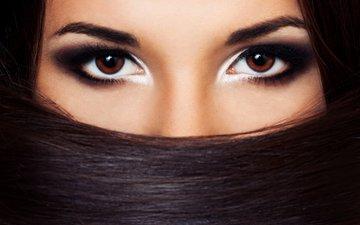 глаза, девушка, портрет, взгляд, волосы, лицо, женщина, карие глаза, сексуальная, волос, сексапильная