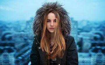 девушка, города, красавица, модель, голубая, неба, горохов, город москва, модел