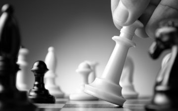 hand, chess, strategy, chess pieces, board game