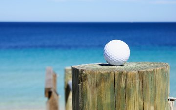 sea, the ball, club, golf, golf ball