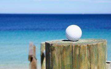 море, мяч, клуб, гольф, golf ball