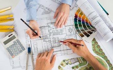 architecture, colors, design, flat housing organization