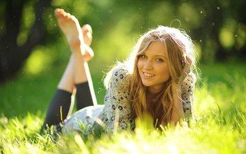 природа, девушка, блондинка, красавица, спокойный, на природе, открытый, блонд, миленькая, gевочка