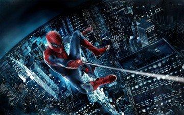 the city, blocks, spider-man, comics