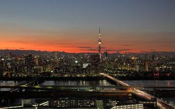 япония, башня, токио, roaș