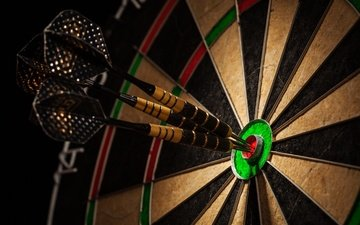colors, darts, dartboard, perfection
