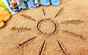 песок, пляж, лето, очки, отдых, вс, полотенце, песка, каникулы, сланцы, летнее, аксессуаров