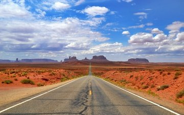 дорога, штат аризона, долина монументов
