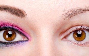 глаза, красавица, макияж, глазок, грим