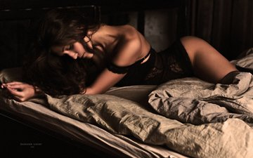 stockings, photographer, body, bed, linen, ass, lace, lying, alexandr savichev, fatal beauty