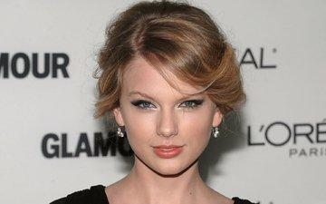 девушка, блондинка, портрет, музыка, взгляд, волосы, лицо, певица, тейлор свифт