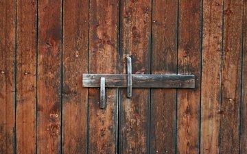 двери, деревянные, старые, засов
