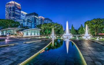 japan, fountains, tokyo, wadakura fountain park, fountain park wadakura
