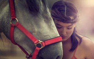 морда, лошадь, девушка, настроение, модель, конь, arancha ari arevalo