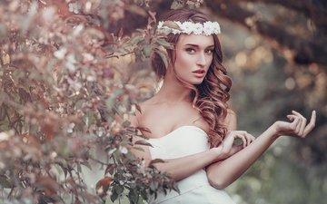 природа, девушка, взгляд, фотограф, губы, венок, секси, красотка, личико, julia sariy