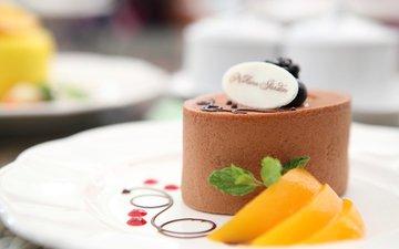 шоколад, персик, выпечка, десерт, в шоколаде, пирожное, кулич, baking