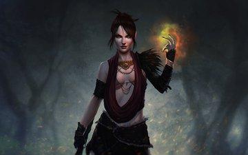 art, witch, fan, dragon age, morrigan
