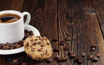 кофе, шоколад, печенье, печенька, в шоколаде