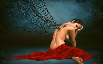 girl, fiction, wings, phoenix, erotic, atr, predator2104