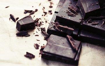 шоколад, сладкое, кусочки, в шоколаде, кусок, сладенько