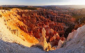 горы, скалы, пейзаж, панорама, штат юта, брайс каньон национальный парк